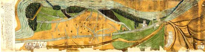 Mapa del Canal de Tauste