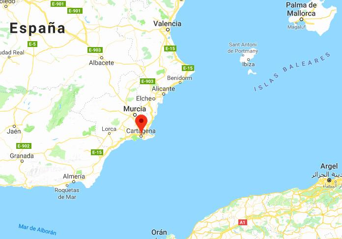 Mapa de situación de Cartagena
