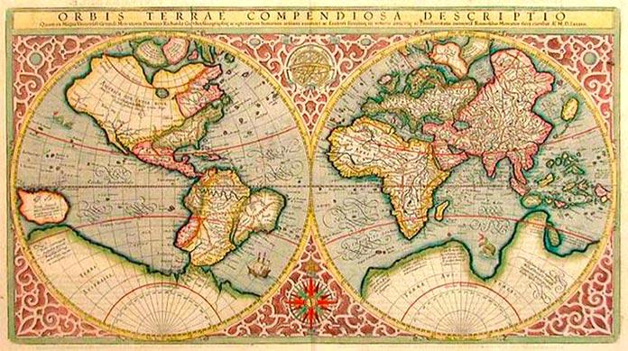 Mapa mundi antiguo.