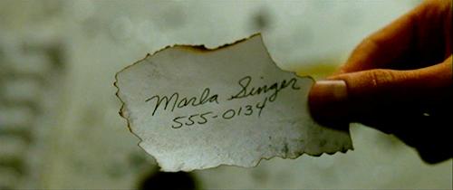 Número de teléfono de Marla Singer en El Club de la Lucha