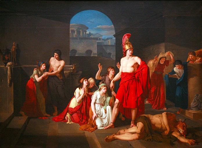 Teseo vencedor del Minotauro