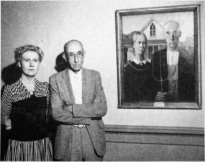 modelos utilizados para la famosa pintura, 'American Gothic'