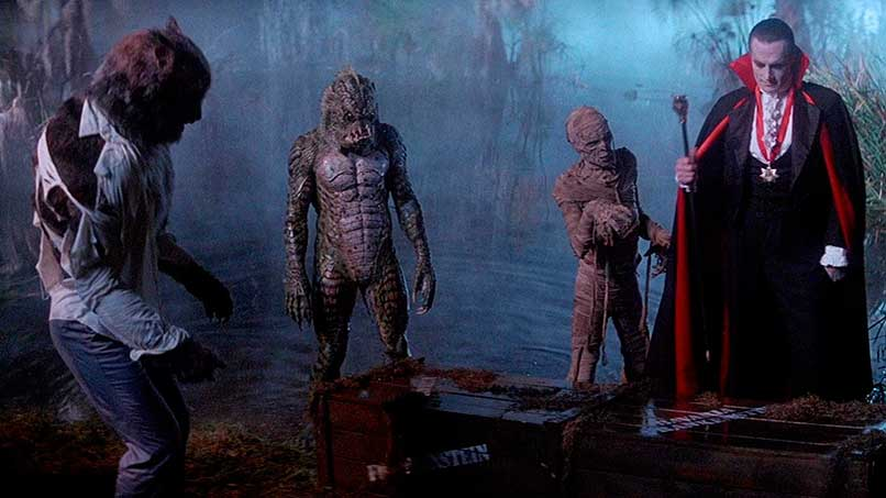 Reunión de monstruos en el pantano, película Una Pandilla Alucinante