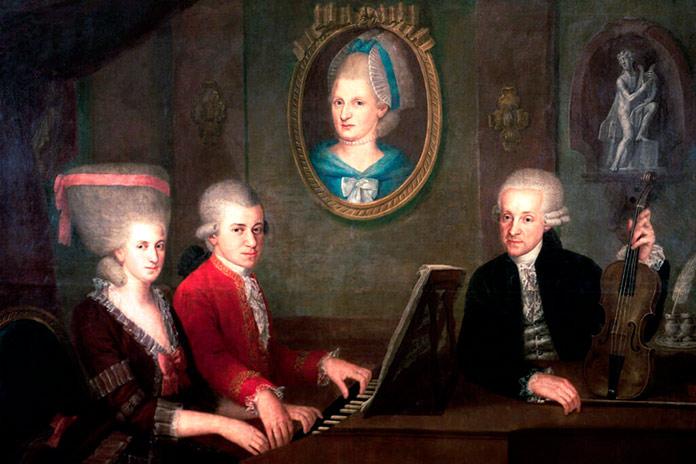 Pintura de la familia Mozart