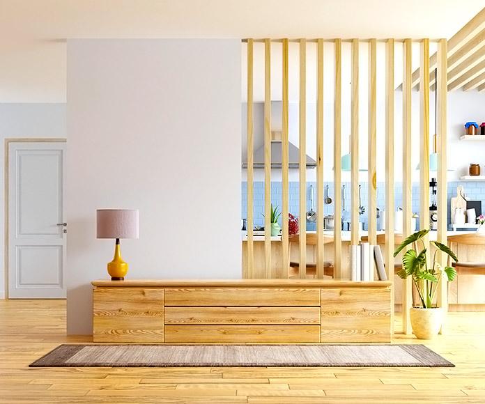 casa de estilo nórdico con muebles de madera