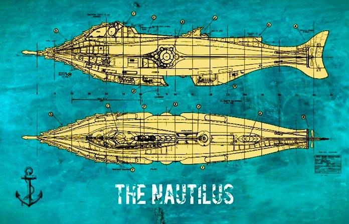 Planos del Nautilus de Julio Verne