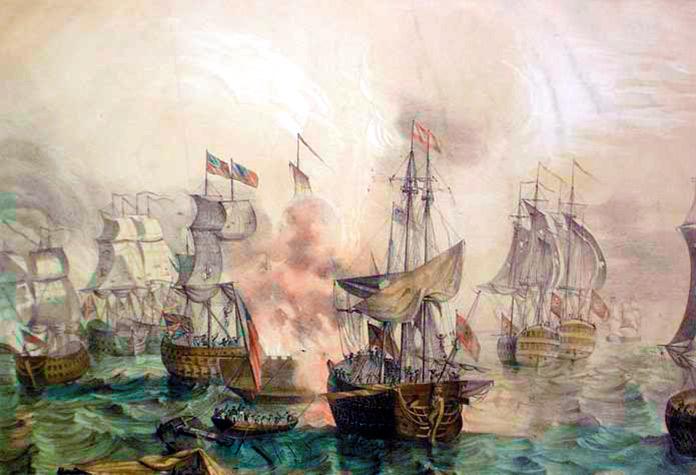 el navío Poder en la batalla naval de Sicié