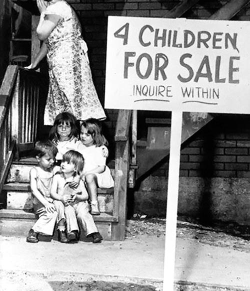 Niños a la venta
