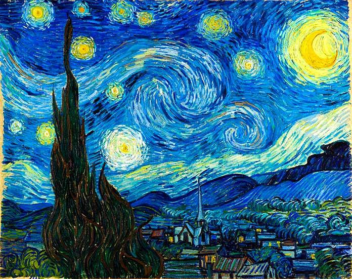 La Noche Estrellada Vang Gogh