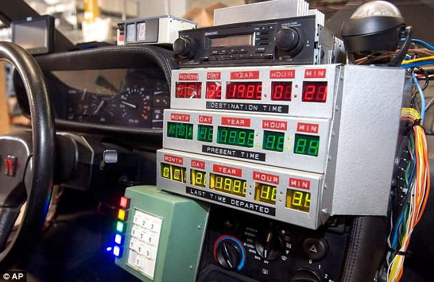 Panel decorativo imitando al del DeLorean de la película
