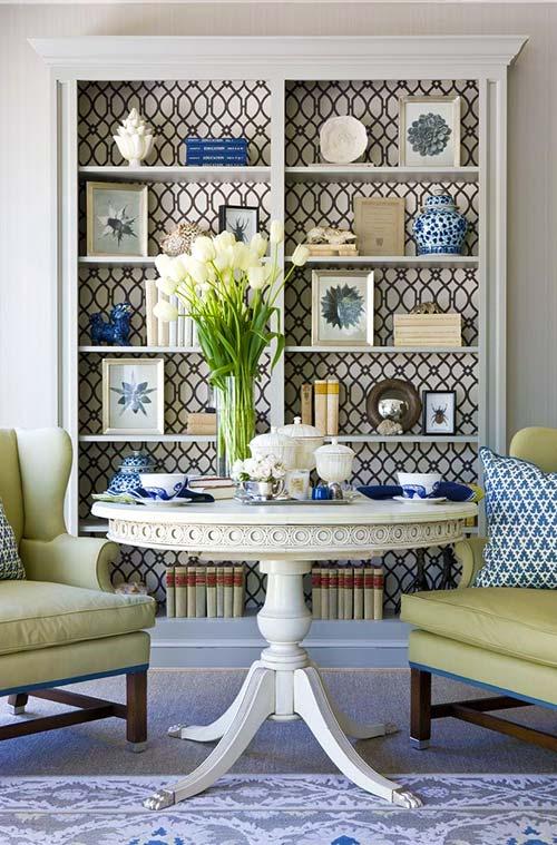 papel pintado blanco para renovar muebles