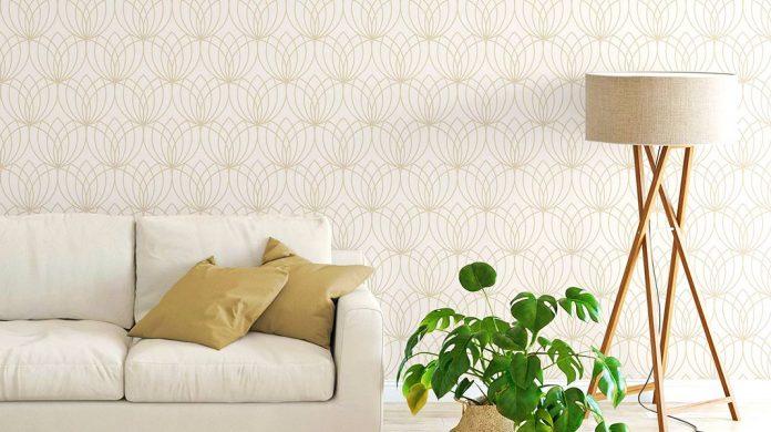 Papeles pintados blancos: la tendencia de moda en decoración de interiores