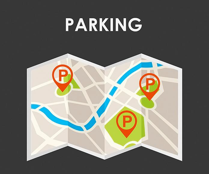 dibujo de mapa de parking