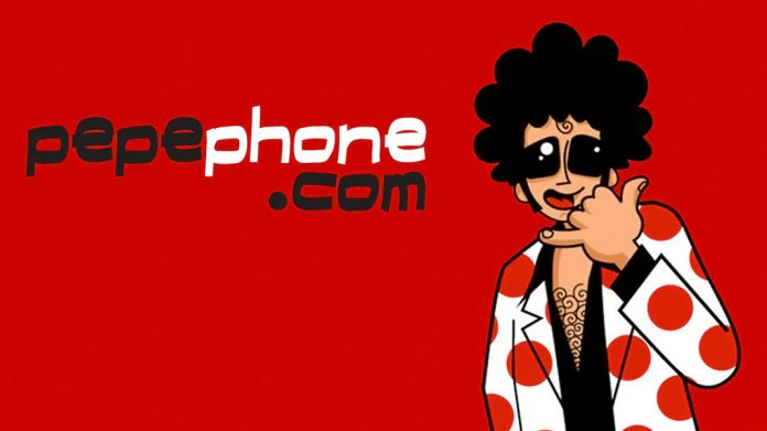 logo e imagen de Pepephone