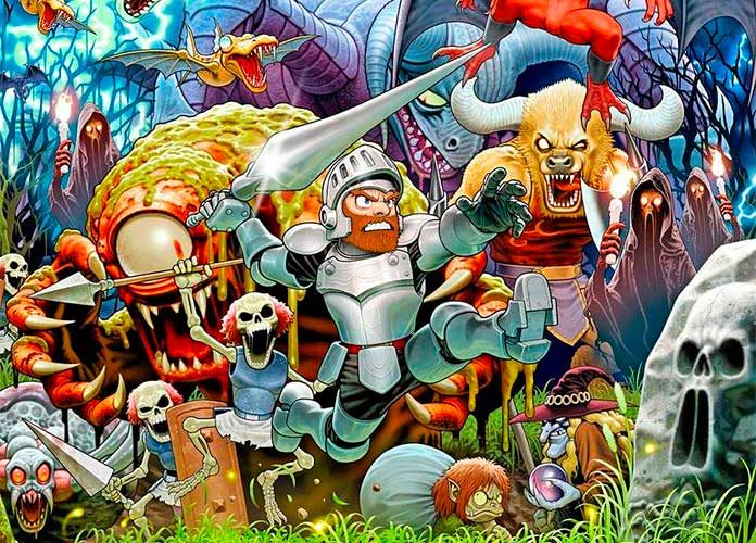Personajes del juego arcade Ghosts'n Goblins