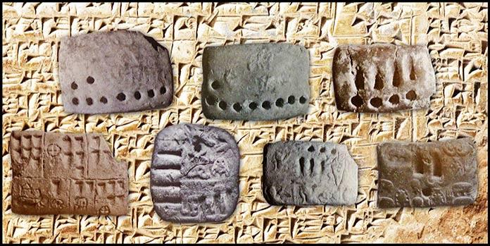 Escritura pictográfica - Tokens elaborados con escritura cuneiforme
