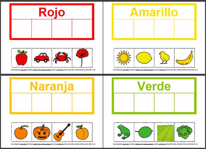 Escritura pictográfica - Pictograma para aprender los colores