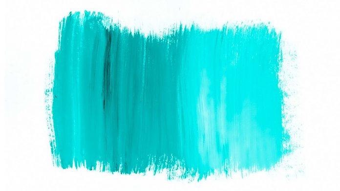 pintura con textura verde
