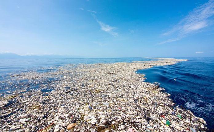 Isla de plástico del océano Pacífico