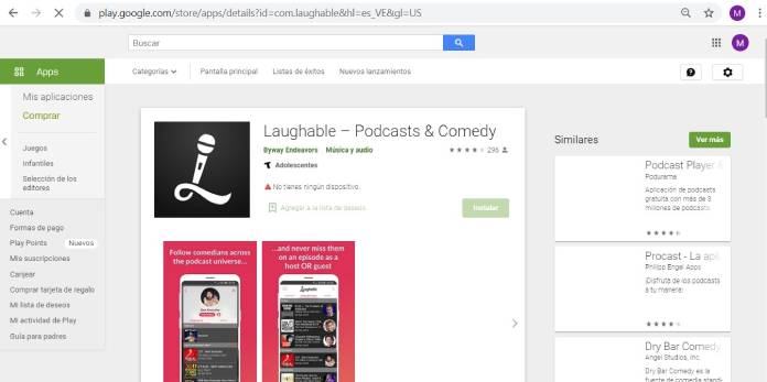 Plataformas de podcast - Laughable