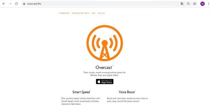 Plataformas de podcast - Overcast
