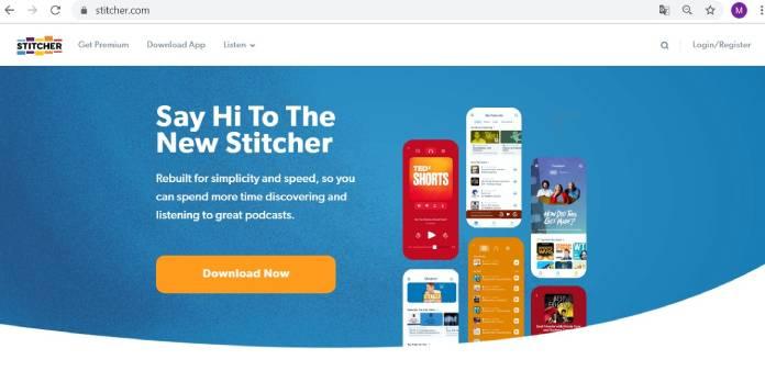 Plataformas de podcast - Stitcher