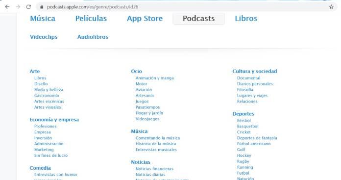 Plataformas de podcast - iTunes