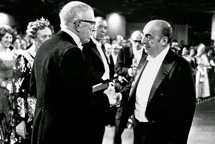 Pablo Neruda recibe el Premio Novel de Literatura en 1971