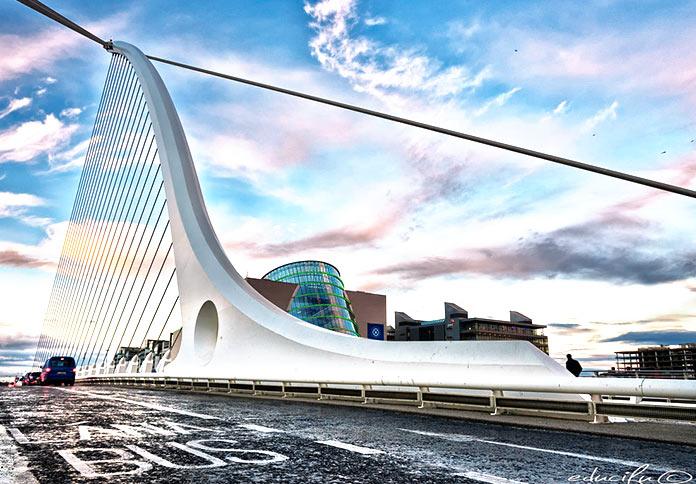 Puente Samuel Beckett de Calatrava en Dublín