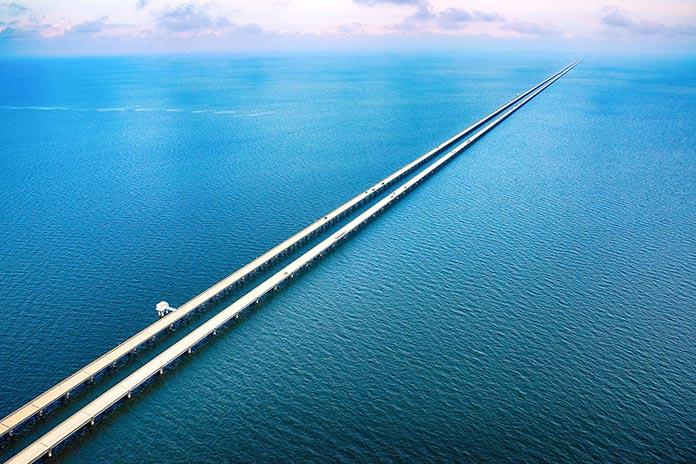 Puentes famosos - Puente del lago Pontchartrain