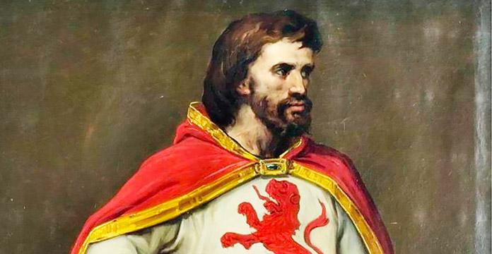Retrato de Ramiro II de León (José María Rodríguez de Losada)