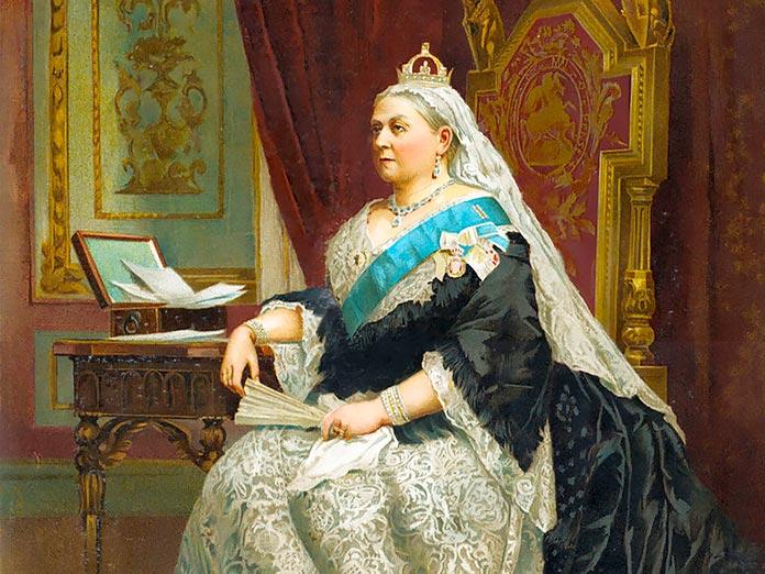 Retrato formal de la reina Victoria en el momento de su Jubileo de Oro, 1887