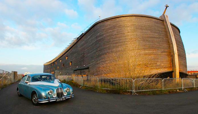 La réplica del arca de Noé vista desde fuera.