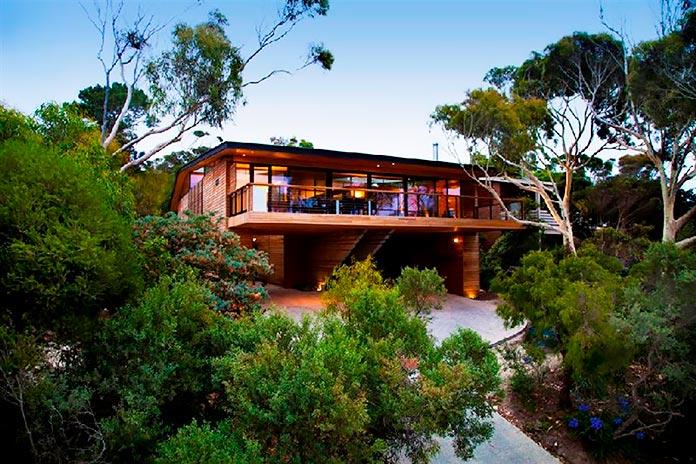 La residencia entre árboles. Sydney, Australia