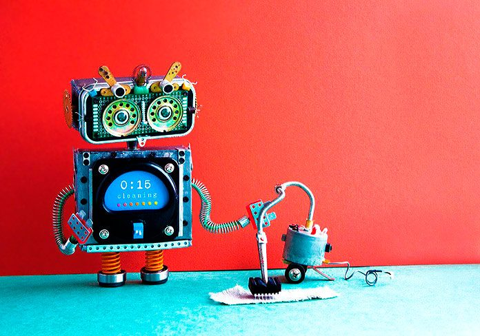 Robot pasando la aspiradora (123rf)