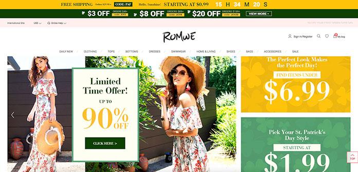 Web de ROMWE