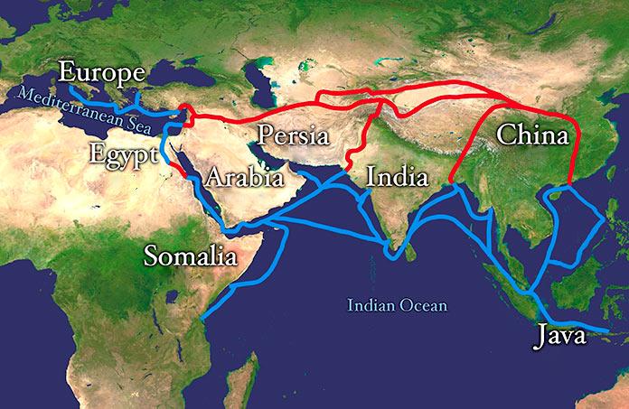 Ruta de la Seda y Ruta de las Especia