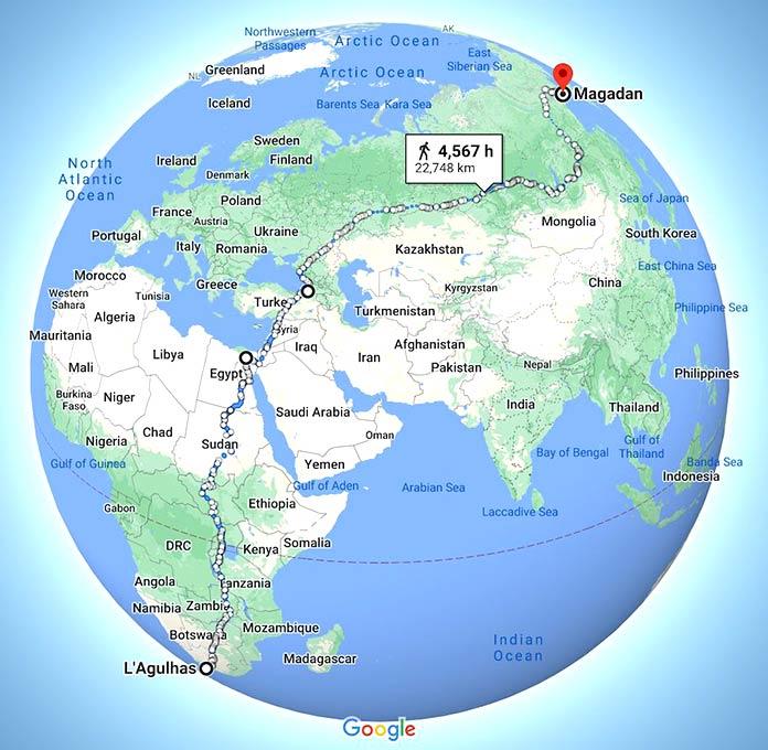 La ruta de senderismo más larga del mundo