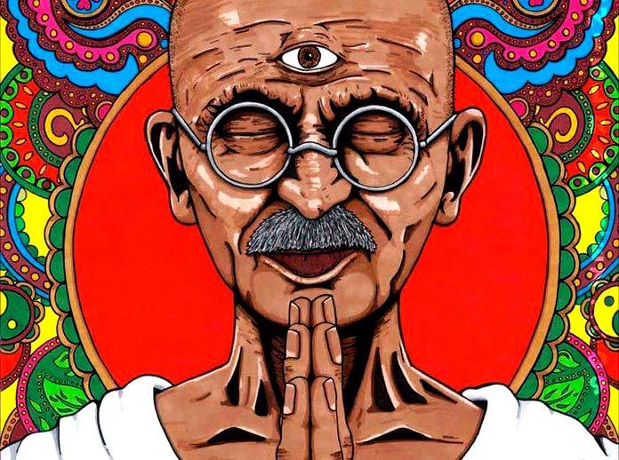 Pintura de Gandhi