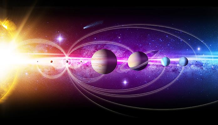 Representación gráfica del sistema solar