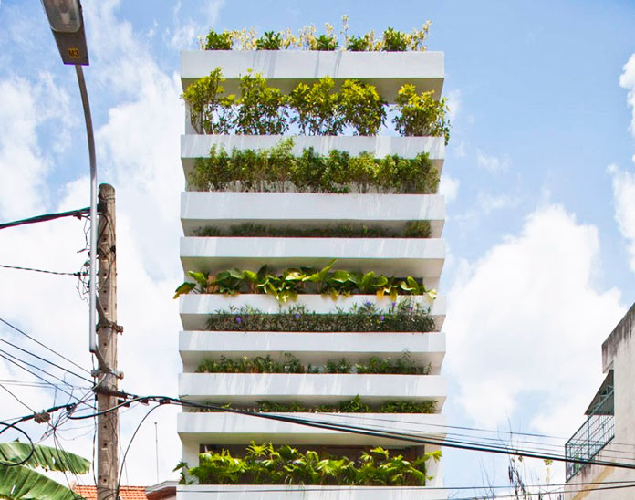 "Casa ecológica ""Stacking Green"". Ho Chi Minh, Vietnam"