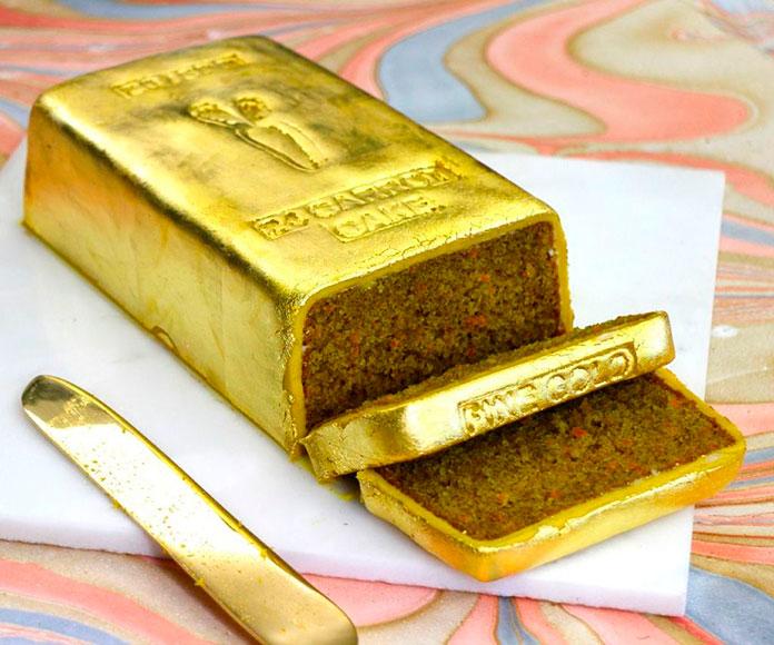 tarta lingote de oro