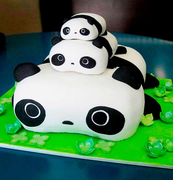 Tarta de osos panda