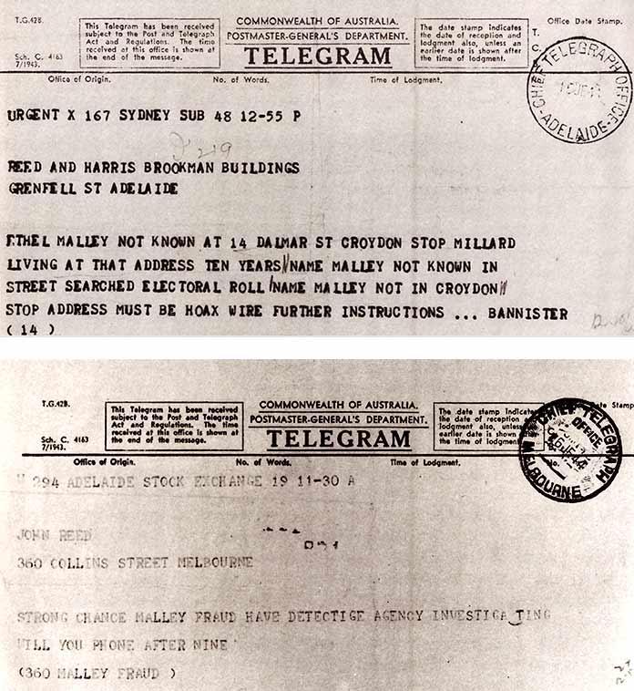 Telegramas investigación sobre le engaño literario