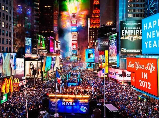 Publicidad en Time Square