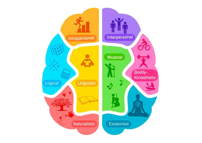 8 tipos de Inteligencias Múltiples