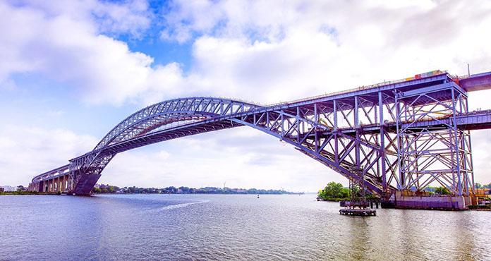 Tipos de puentes: puentes de arco - Puente de Bayonne