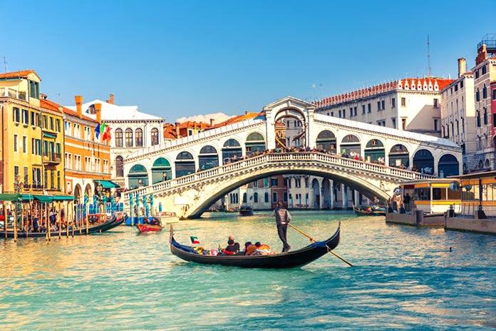 Tipos de puentes: puentes de arco bajo tablero - Puente de Rialto
