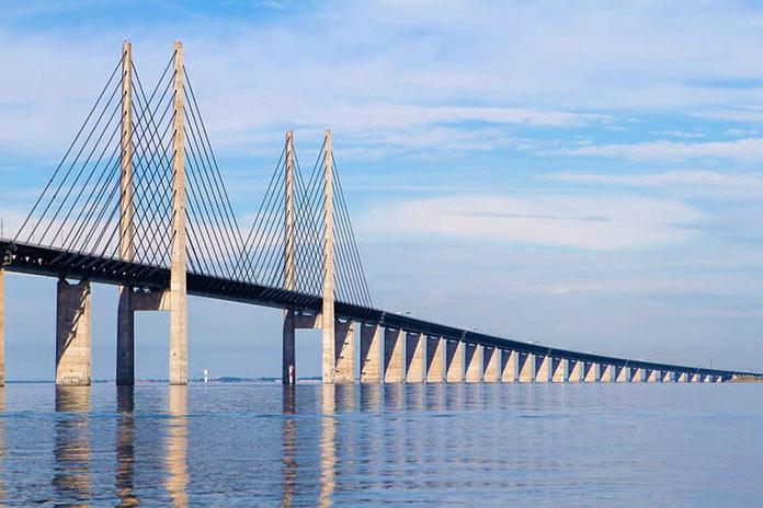 Tipos de puentes: puentes atirantados - Puente de Oresund