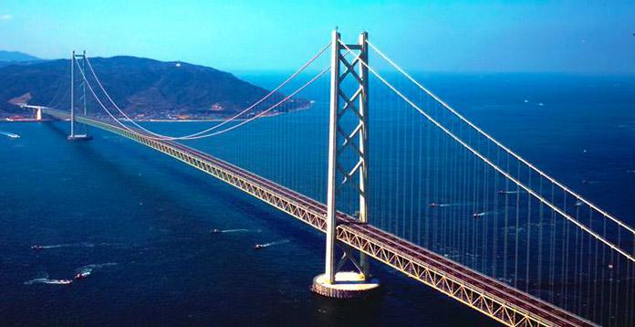 Tipos de puentes: puentes colgantes - Akashi Kaiyo